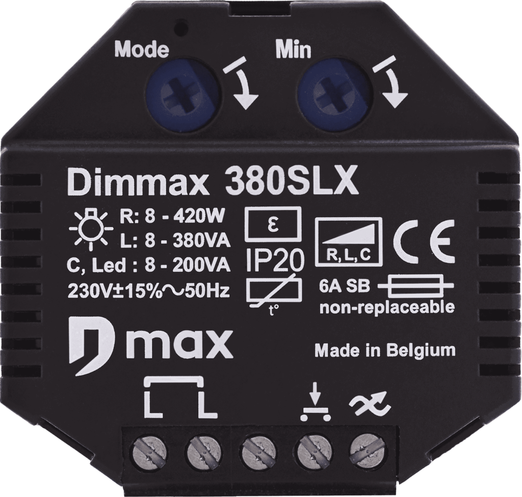 frontview of the dimmax 380SLX bluetooth dimmer