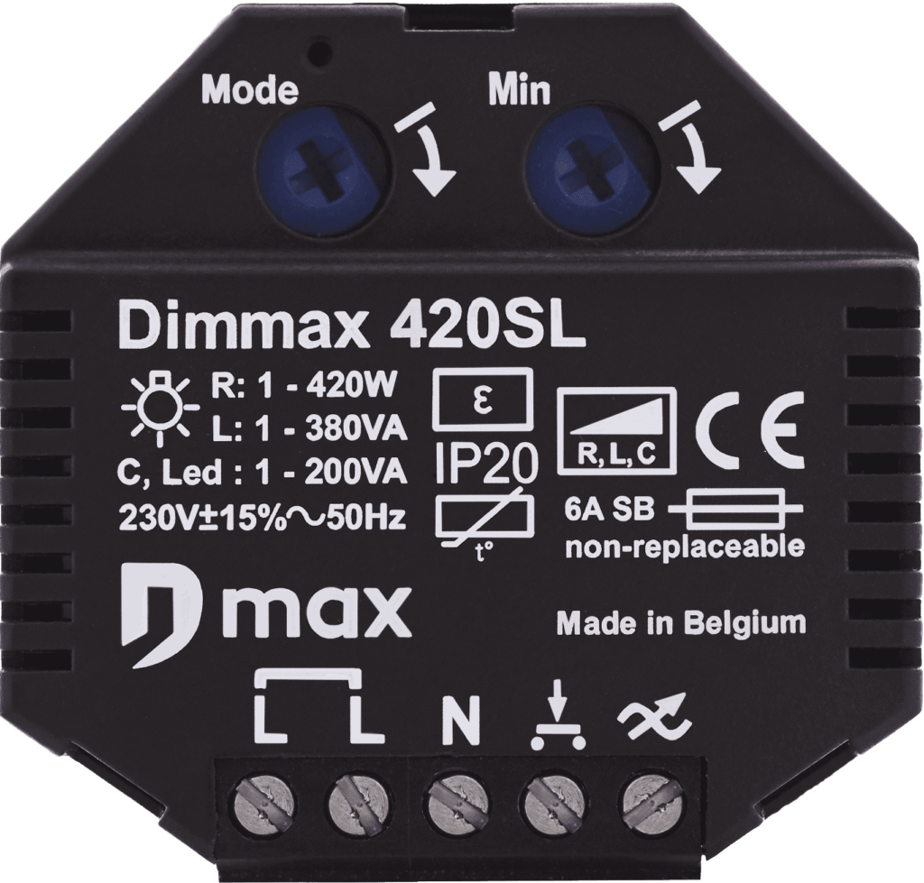 frontview of the dimmax 420SL bluetooth dimmer