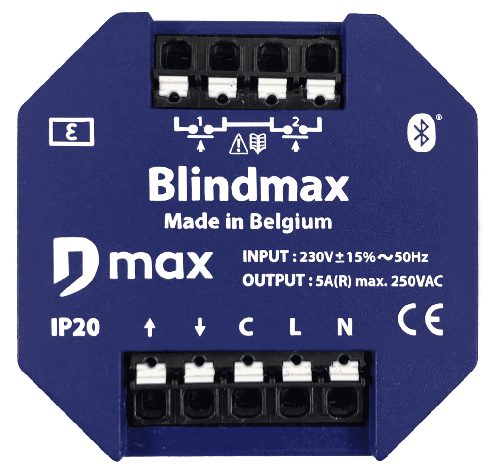 frontview of the Blindmax Bluetooth motor module