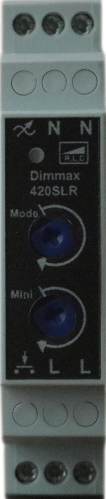 frontview of the Dimmax 420SLR dimmer module