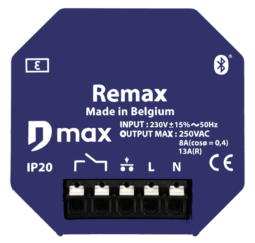 frontview of the Remax bluetooth relay